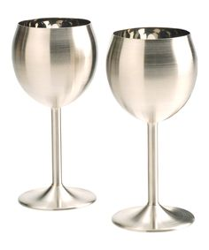 Stainless Steel Wineglass - Set of Two $19.99	$28.00