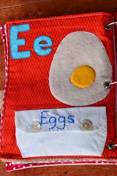 Alphabet Quiet Book: E is for Eggs