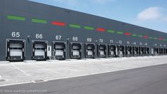 Loading systems is specialised in total solutions for loading and unloading service on dock equipment and industrial doors Industrial Architecture, Facade Architecture, Office Interior Design, Office Interiors, Warehouse Logistics, Texture Tile, Industrial Door, Steel Structure, Antalya