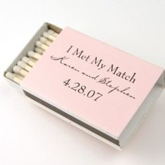 I have a thing for awesome matchboxes. ...and at least these wedding favours are actually useful! *although perhaps dangerous to leave on the table considering people fiddle with everything.