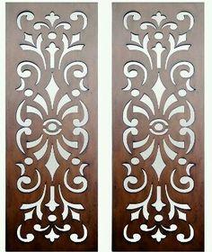 Interior Wall Art :: Timber Wall Art :: Set of 2 Kasbah Design Laser Cut Timber Art - Laser Cut Patterns, Stencil Patterns, Stencil Designs, Cnc Laser, Laser Cut Wood, Cnc Cutting Design, Laser Cutting, Jaali Design, Laser Cut Panels