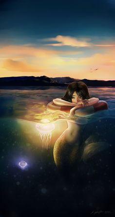 FISH FACT:  Pisces isn't a big fan of large crowds. (zodiacchic.com) (Art:Mermaids have friends too by Kareyanne.deviantart.com)