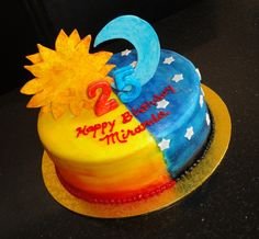 Sun and Moon 25th Birthday Cake
