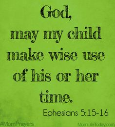 """Use of Time 