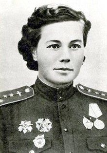 Olga Sanfirova (Russian: Ольга Санфирова) was a Captain of the Guards in the 46th Taman Guards Night Bomber Aviation Regiment, 325th Night Bomber Aviation Division, 4th Air and Air Defence Forces Army, 2nd Belorussian Front during World War II. She was posthumously awarded...