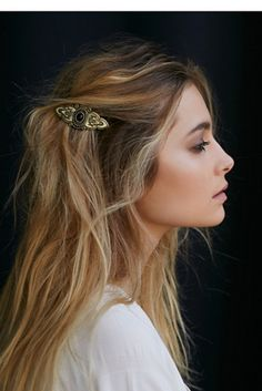Barrette Hairstyles Pinsofia On Hair  Pinterest  Ponytail