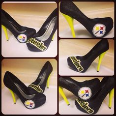 Custom Pittsburgh Steelers heels www.etsy.com/shop/rockstarshoes