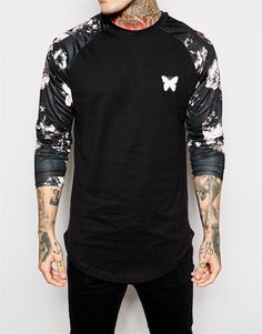 Good For Nothing Long Sleeve T-Shirt With Contrast Sleeves