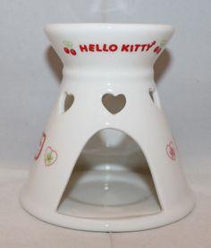Sanrio Japan Hello Kitty Ceramic Aroma Oil Diffuser Candle White 1976 1999 VTG