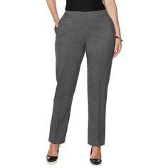 Melissa McCarthy Seven7 Permanent Crease Trouser - Black