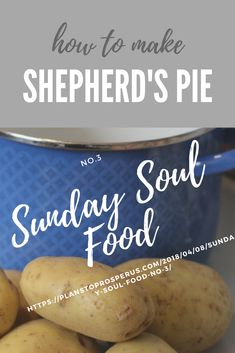 SUPER EASY RECIPE for Shepherd's Pie! Soul Sunday, Happy Sunday, Soul Food, How To Plan, How To Make, Super Easy, Delish, Dinners, Easy Meals