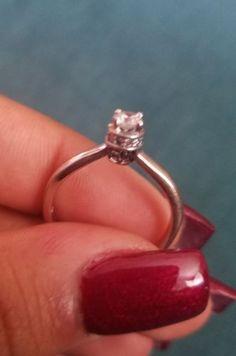 #jewelry ladies 14 k yellow gold diamond solitaire ring please retweet