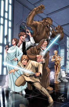 Star Wars: A New Hope - lines by Jackson Gee; colors by Eddy Swan