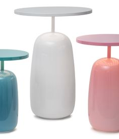 Producer Klong has a long tradition of collaborating closely with the designers they approach. For this year's collection, duo Broberg & Ridderstråle created the table lamp Bumble in three sizes. A LED light source is hidden underneath the metal shade atop of the colored glass base.