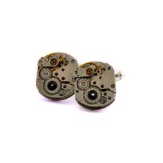 Watch Movement Cufflinks , silver plated, Clockwork Cufflinks, Watch Cufflinks, SteamPunk Cufflinks,Gift for him, handmade. by Mysstic on Etsy