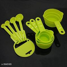 Measuring Cups Home Useful Trendy Essential Kitchen Tool Material: Plastic  Size: Free Size Description: It has 8 pieces of Measuring Cup Green Country of Origin: India Sizes Available: Free Size   Catalog Rating: ★4 (1858)  Catalog Name: Dream Home Useful Trendy Essential Kitchen Tools Vol 2 CatalogID_556060 C135-SC1658 Code: 761-3945185-552