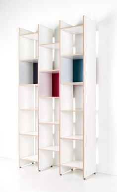 Record shelf ORWE made of birch plywood in semi-gloss white! With almost 2m height and a width of 1.05m ORWE can hold up to nearly 1120 records and therefore offers sufficient space in particular for all the vinyl treasures of record-collectors.