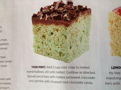 Thin Mint rice crispy treat variation