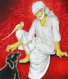 Ocher Art: Sai Baba- an unexplored subject