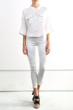 Linen and Cotton Pocket Blouse , Hollywood Hills