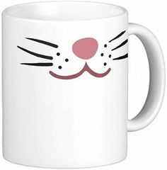 Pair of Cat Whiskers 15 oz Ceramic Coffee Mugs by Quick Mugs 2 U * Awesome cat product. Click the image