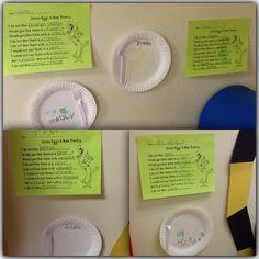 dr. Seuss prek unit: green eggs and ham - art & writing activity