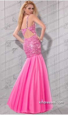 http://www.ikmdresses.com/unique-Glittering-fitted-bejeweled-one-shoulder-open-back-sequin-tulle-mermaid-dress-p60046