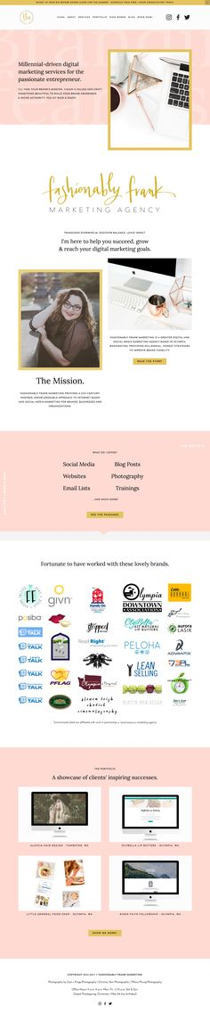 Fashionably Frank Marketing Agency is running on Station Seven's Eiderwild Squarekit for Squarespace. Get this minimal and modern Squarespace design that's easy to edit for your website, just click through this pin! It also comes with Photoshop files to create the look you want.