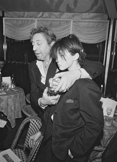 Lucien Ginsburg b. Serge Gainsbourg with a boy called Jane -Mallory- Birkin