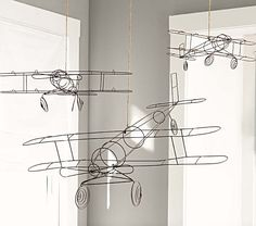 Wire Hanging Airplanes