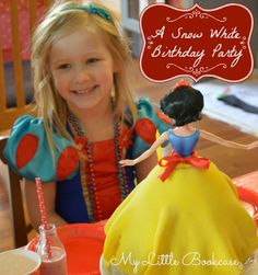 Snow White Birthday Party and Cake
