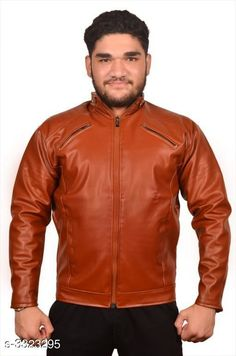 Jackets Trendy Men's PU Leather Jacket Fabric: PU Leather Sleeves: Full Sleeves Are Included Size:  M  L XLXXL  (Refer Size Chart) Length: Refer Size Chart Type: Stitched Description: It Has 1 Piece of Men's Jacket Pattern: Solid Country of Origin: India Sizes Available: XXS, XS, S, M, L, XL, XXL *Proof of Safe Delivery! Click to know on Safety Standards of Delivery Partners- https://ltl.sh/y_nZrAV3  Catalog Rating: ★3.9 (3194)  Catalog Name: Elegant Men's PU Leather Jackets Vol 4 CatalogID_459837 C70-SC1209 Code: 235-3323295-