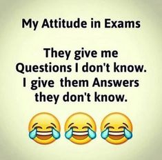 Funny Exam Quotes and Funny Quotes about Life: Very Funny Photo Gallery Exam Quotes Funny, Exams Funny, Funny Attitude Quotes, Funny Jokes In Hindi, Very Funny Jokes, Cute Funny Quotes, Funny Thoughts, Really Funny Memes, Funny Quotes About Life