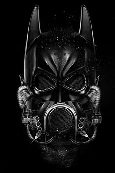 #Batman - Black and white illustration from digital artist Obery Nicolas. ( Click the image to view full size )
