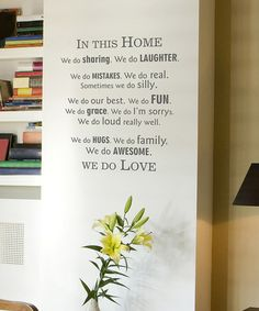 Take a look at this Slate Modern 'In This Home' Wall Quote by Wallquotes.com by Belvedere Designs on #zulily today!