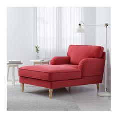 STOCKSUND Szezlong - Ljungen jasnoczerwony, jasnobrązowy - IKEA