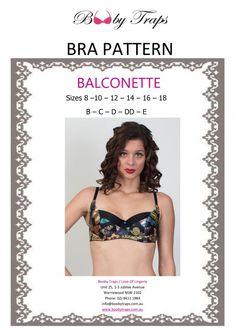 1a4fcf3437 Balconette Digital Bra Pattern 8 - 18 B - E. Lingerie Patterns