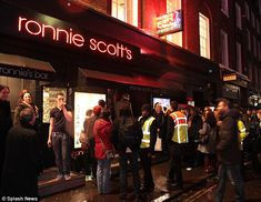 Ronnie Scott's in London's Soho - great music venue but used to be so much better in the old days when you could just walk in off the street and see some amazing performers for the price of your memberships and a few drinks.