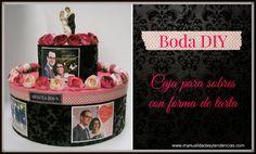 Urna de boda DIY / Urne de mariage www.manualidadesytendencias.com #boda #manualidades