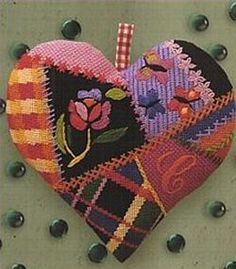 bohemian art needlepoint - looks like my sister's molly mine projects @Susan Braun