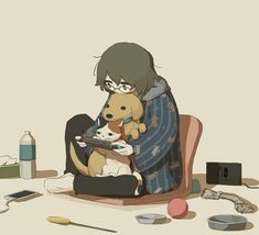 Sad Anime, Anime Art, Chibi, Sun Projects, Looks Dark, Dark Art Illustrations, Deep Art, Arte Obscura, Sad Art
