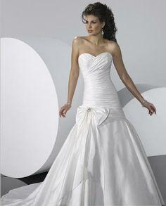 A-Line/Princess Sweetheart Chapel train wedding dress for brides 2014 style