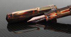 Omas Bronze Arco Paragon Fountain Pen Rose Gold Trim