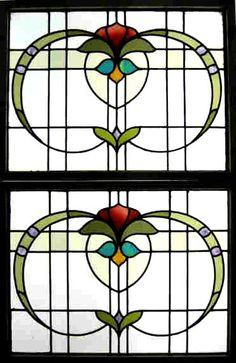 Pair of Edwardian Windows (one of a pair). by an Unknown Designer and Manufacturer
