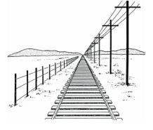 Lijnperspectief = lijnen die naar 1 of meerdere vluchtpunten op de  horizon lopen