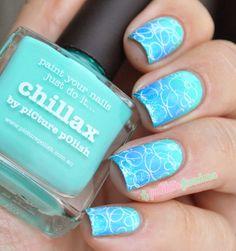 Nailstorming bubbles picture polish blue