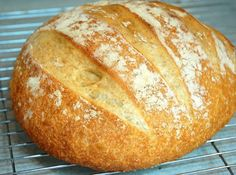 Guiltless Gourmet simple artisan bread, only 4 ingredients and 2 hour rise.