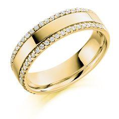 Micro-Claw Set 0.26ct Round Brilliant Cut Diamond Half Eternity Ring   Reppin & Jones Jewellers
