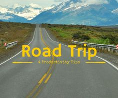 4 Productivity Trips for Your Road Trip: http://productivityathome.typepad.com/my_weblog/2014/07/four-productivity-tips-for-your-road-trip-.html