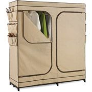 Double Door Storage Closet with Shoe Organizer. A must have to organize your space.